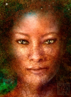 Gaia, Mother Earth - detail of face