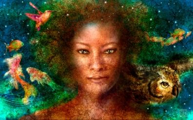 GAIA, MOTHER EARTH. - 32x20