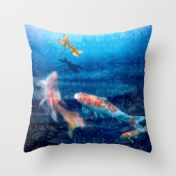 The Koi Damsel Pillow
